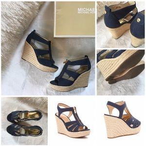 a99c2194a70 MICHAEL Michael Kors Shoes - MICHAEL KORS BERKLEY WEAVE CANVAS ESPADRILLE  WEDGE